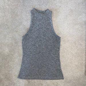 UK brand River Island grey ribbed knit turtleneck